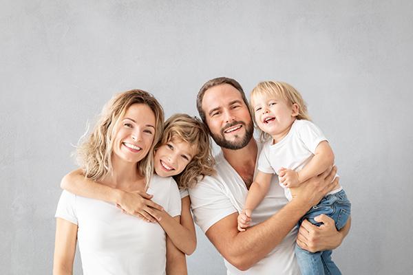 Foto von eine Fröliche Familie