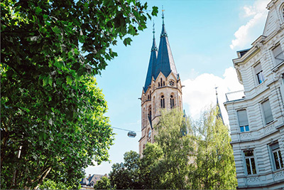 Aussicht von Kaiser-Ring Kirche am Zahnarztpraxis